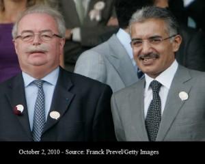 Christophe de Margerie  et Abdullah al-Thani