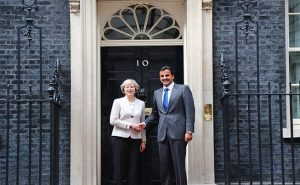 Photo QNA - L'émir Tamim rencontre Theresa May